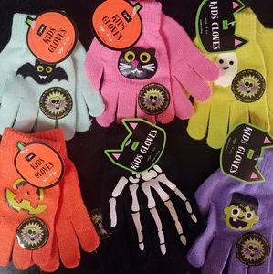 Other - PICK 3 glow-in-the-dark Halloween kids gloves new